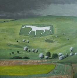 White Horse and Helicopter