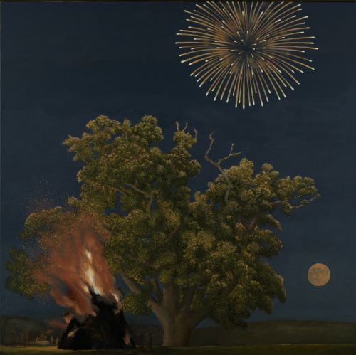 Tree Moon and Firework