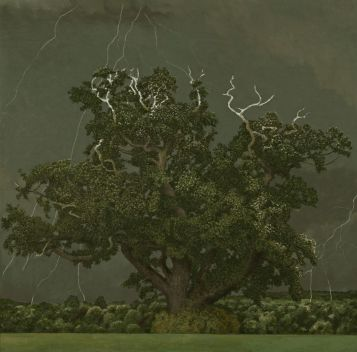 Oak Tree and Lightening