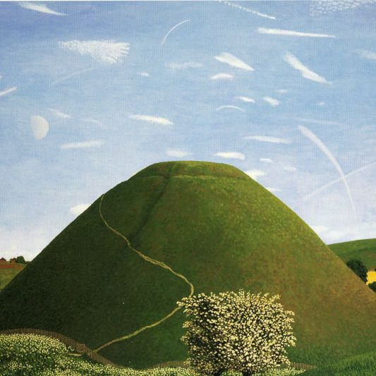 Portrait of Silbury Hill in May